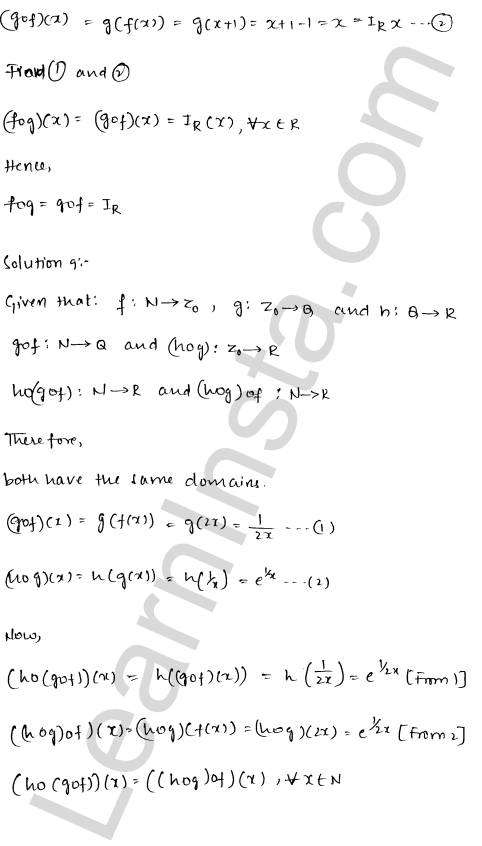 RD Sharma Solutions Class 12 Functions Chapter 2 Ex 2.2 9