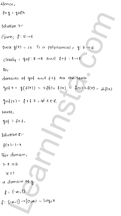 RD Sharma Solutions Class 12 Functions Chapter 2 Ex 2.3 10