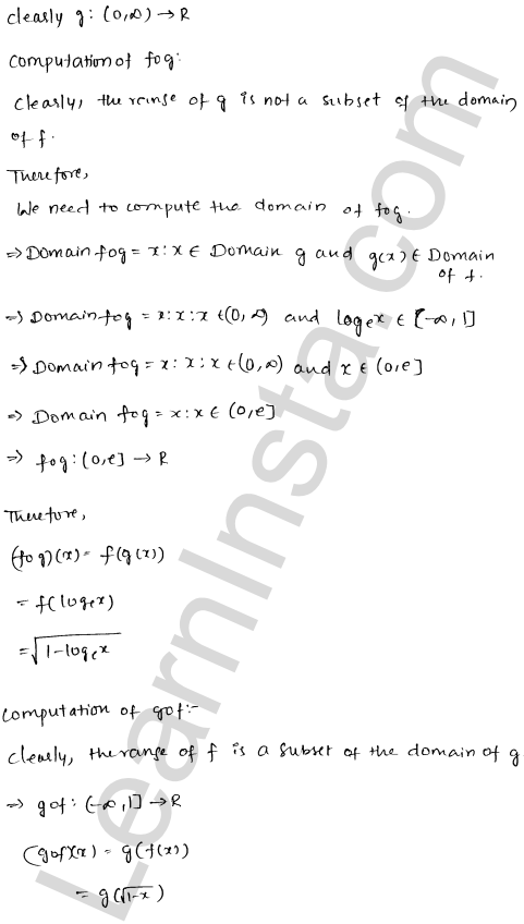 RD Sharma Solutions Class 12 Functions Chapter 2 Ex 2.3 11