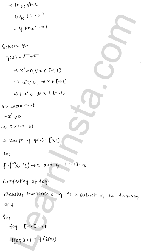 RD Sharma Solutions Class 12 Functions Chapter 2 Ex 2.3 12