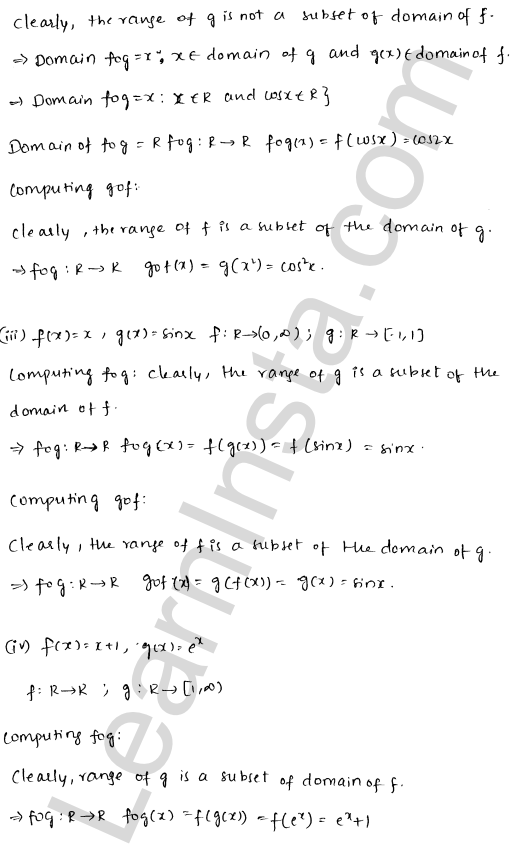 RD Sharma Class 12 Solutions Chapter 2 Functions Ex 2.3 2