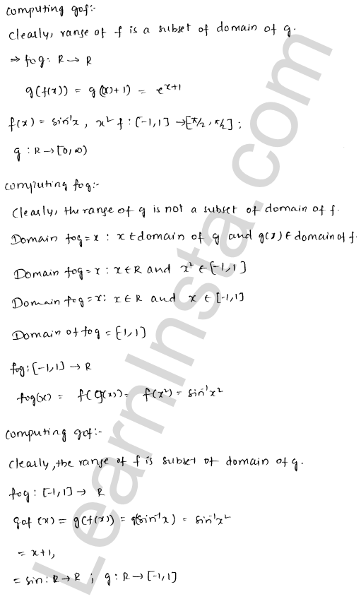RD Sharma Class 12 Solutions Chapter 2 Functions Ex 2.3 3