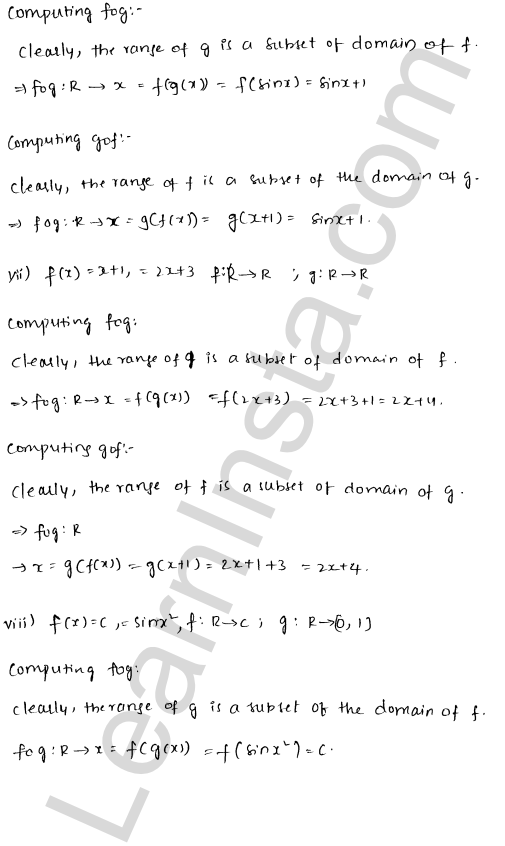 RD Sharma Class 12 Solutions Chapter 2 Functions Ex 2.3 4