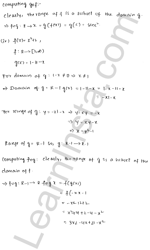 RD Sharma Class 12 Solutions Functions Chapter 2 Ex 2.3 5