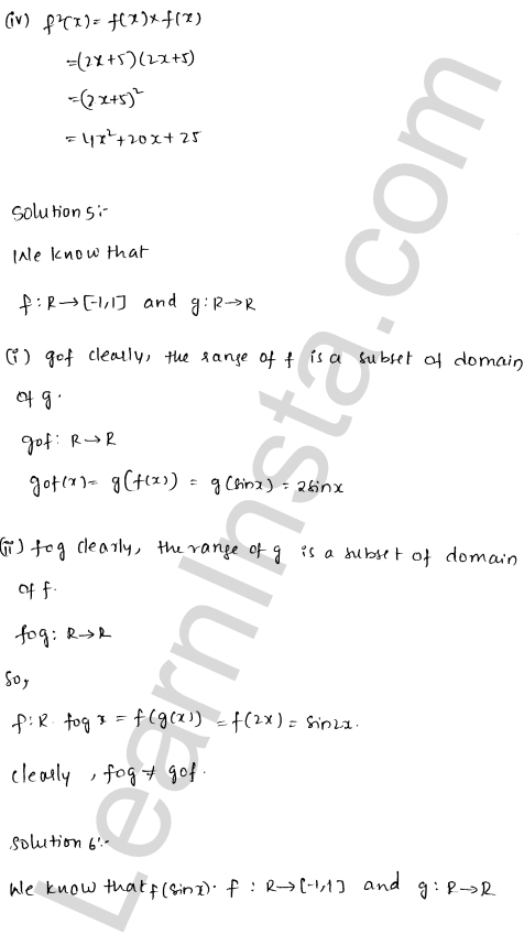 RD Sharma Class 12 Solutions Functions Chapter 2 Ex 2.3 8