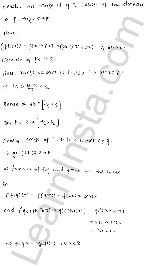 RD Sharma Solutions Class 12 Functions Chapter 2 Ex 2.3 9