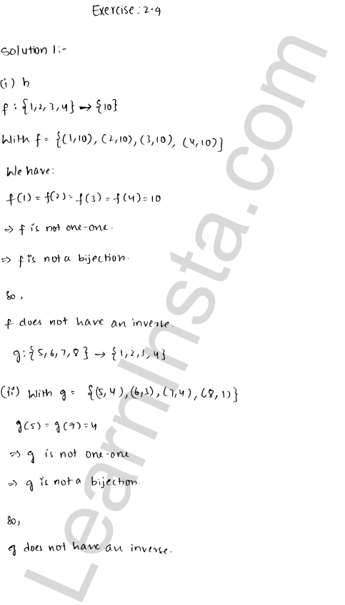 RD Sharma Class 12 Solutions Chapter 2 Functions Ex 2.4 1