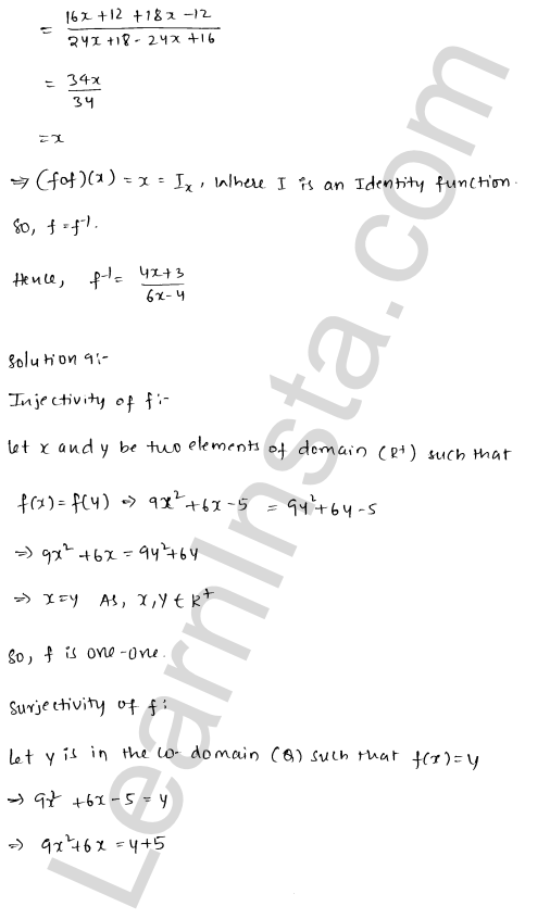 RD Sharma Class 12 Solutions Functions Chapter 2 Ex 2.4 10