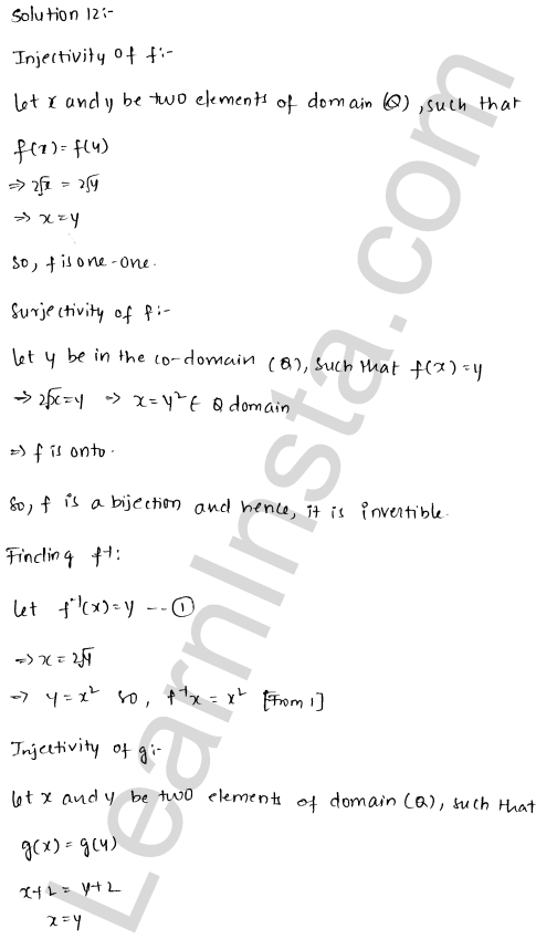 RD Sharma Solutions Class 12 Functions Chapter 2 Ex 2.4 14