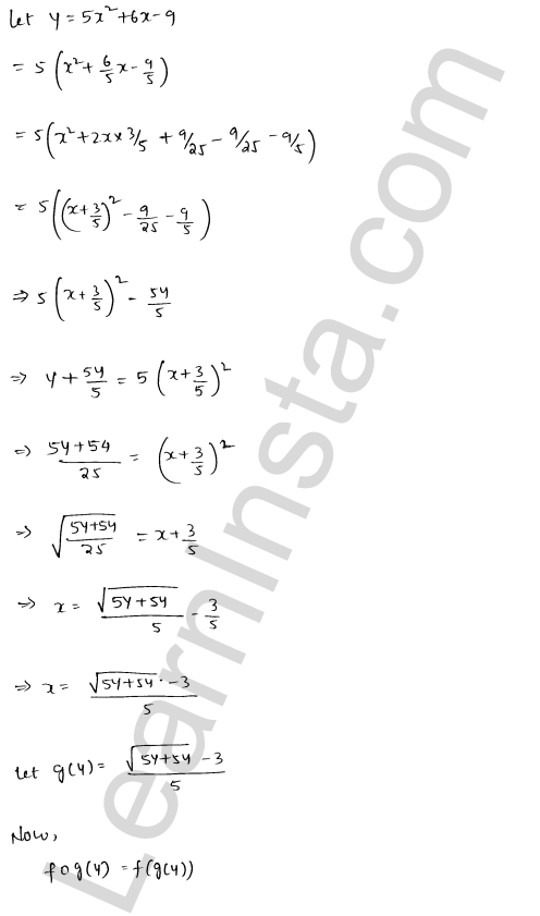 RD Sharma Class 12 Solutions Chapter 2 Functions Ex 2 4
