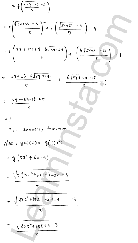 RD Sharma Class 12 Maths Solutions Chapter 2 Functions Ex 2.4 19