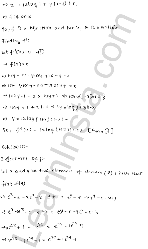 RD Sharma Class 12 Solutions Functions Chapter 2 Ex 2.4 24
