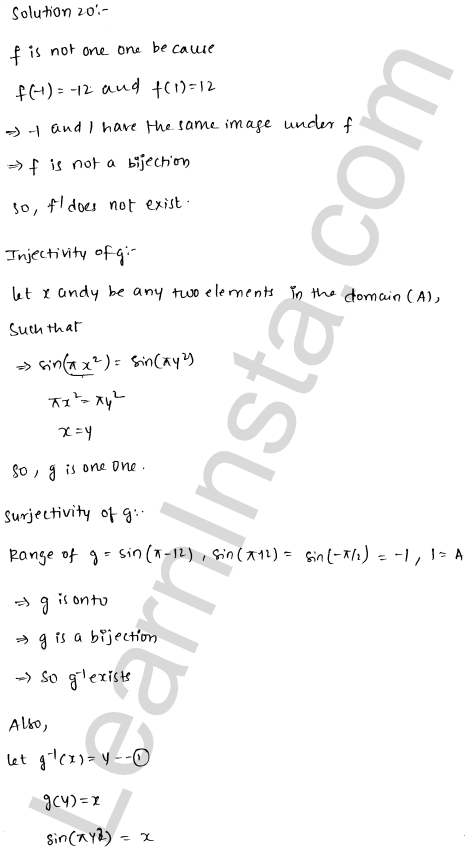 RD Sharma Solutions Class 12 Functions Chapter 2 Ex 2.4 28