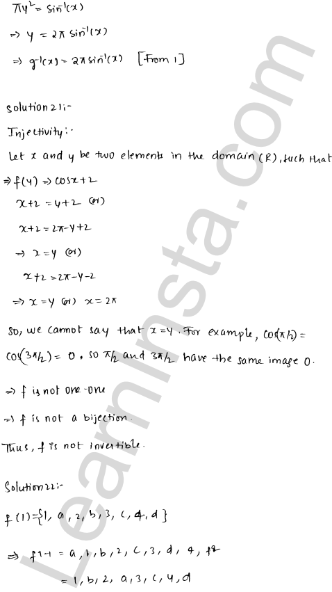 RD Sharma Solutions Class 12 Functions Chapter 2 Ex 2.4 29