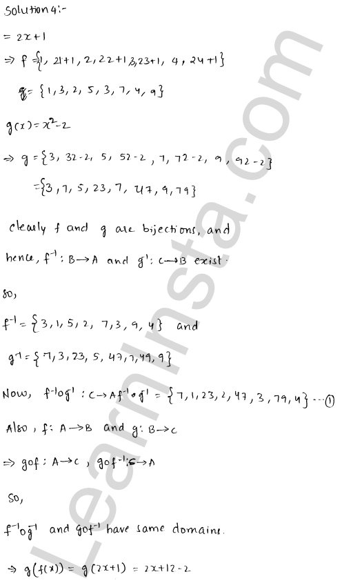 RD Sharma Class 12 Solutions Chapter 2 Functions Ex 2.4 5