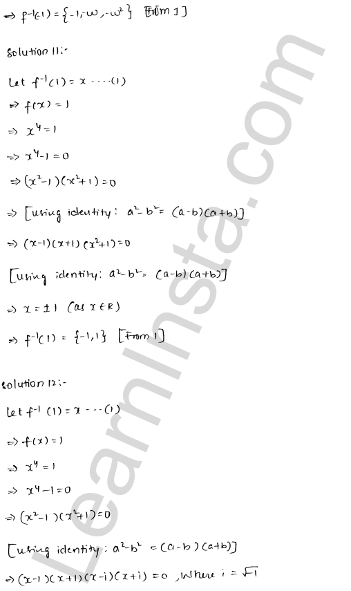 RD Sharma Class 12 Solutions Chapter 2 Functions VSAQ
