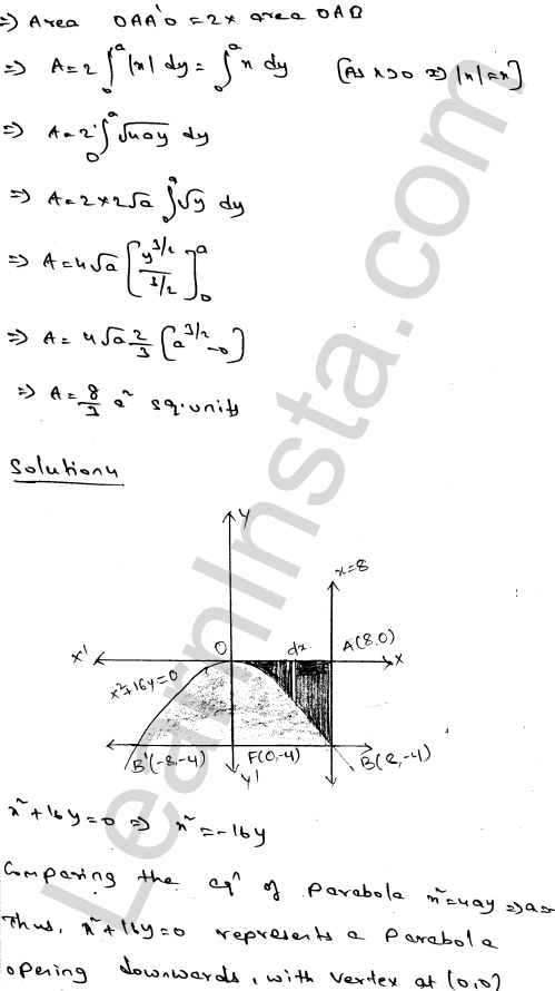 RD Sharma Class 12 Maths Solutions Chapter 21 Areas of Bounded Regions Ex 21.2 4