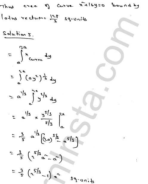 Class 12 RD Sharma solutions chapter 21 Areas of Bounded Regions Ex 21.2 6