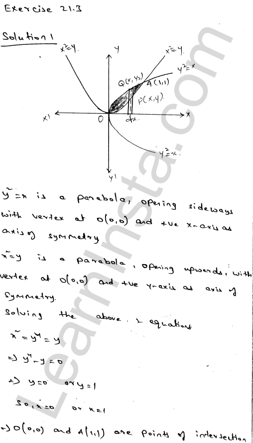 RD Sharma Class 12 Solutions Chapter 21 Areas of Bounded Regions Ex 21.3 1