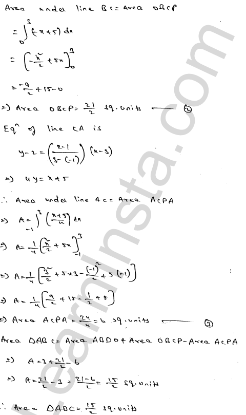 RD Sharma Solutions Class 12 Areas of Bounded Regions Chapter 21 Ex 21.3 12