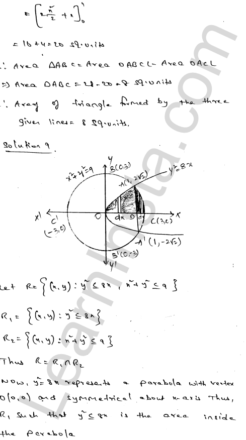 RD Sharma Solutions Class 12 Areas of Bounded Regions Chapter 21 Ex 21.3 14