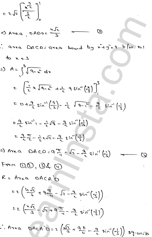 RD Sharma Class 12 Maths Solutions Chapter 21 Areas of Bounded Regions Ex 21.3 16