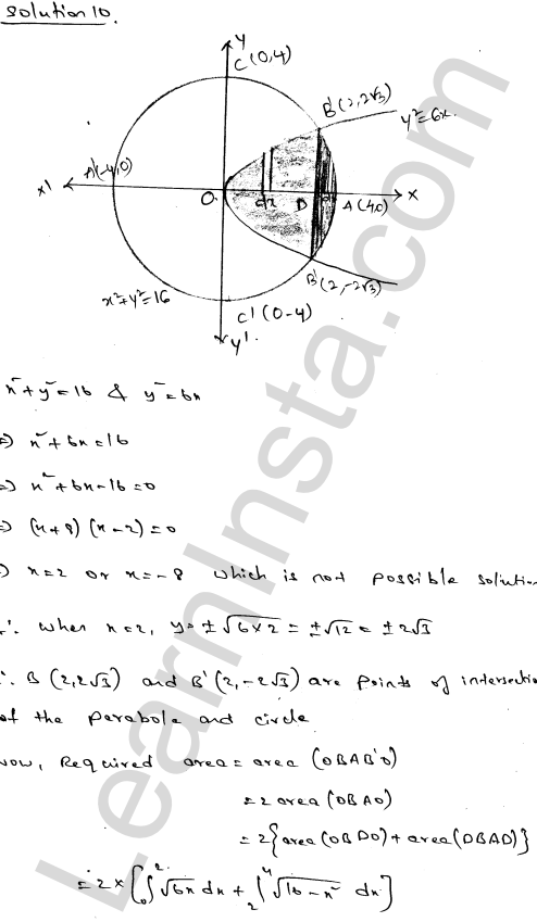 RD Sharma Class 12 Maths Solutions Chapter 21 Areas of Bounded Regions Ex 21.3 17