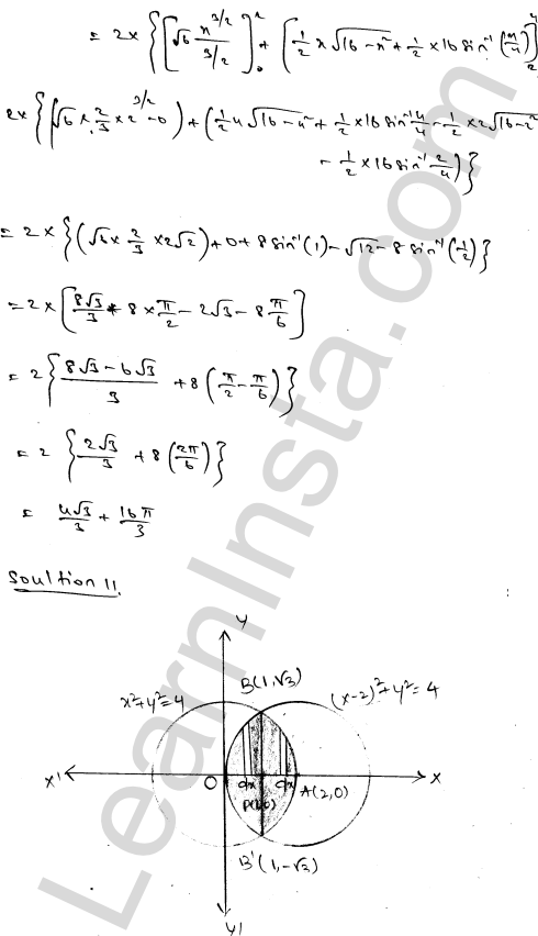 RD Sharma Class 12 Maths Solutions Chapter 21 Areas of Bounded Regions Ex 21.3 18
