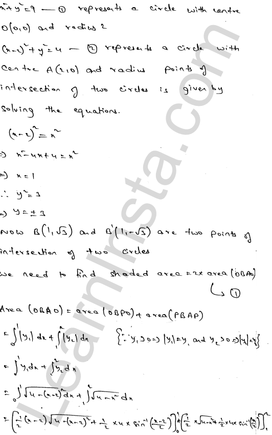 RD Sharma Class 12 Maths Solutions Chapter 21 Areas of Bounded Regions Ex 21.3 19
