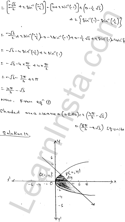 RD Sharma Class 12 Maths Solutions Chapter 21 Areas of Bounded Regions Ex 21.3 20