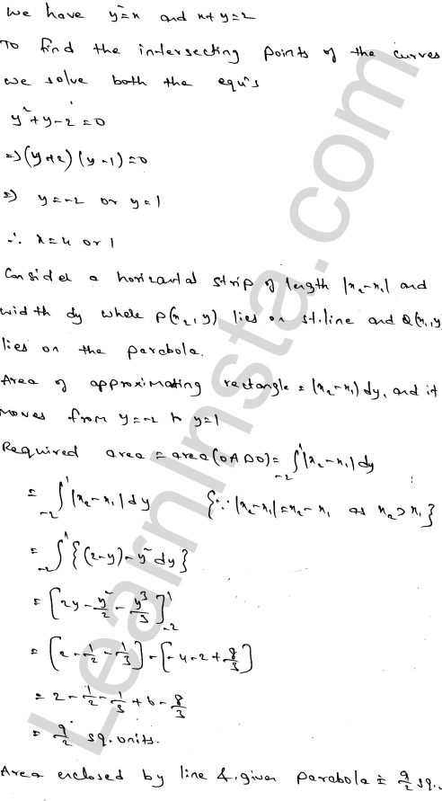 Solution of RD Sharma class 12 chapter 21 Areas of Bounded Regions Ex 21.3 21