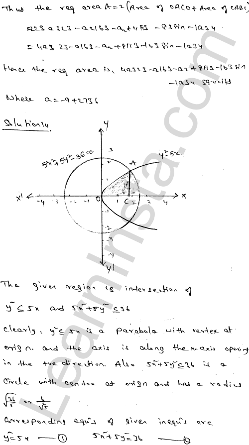 Solution of RD Sharma class 12 chapter 21 Areas of Bounded Regions Ex 21.3 24