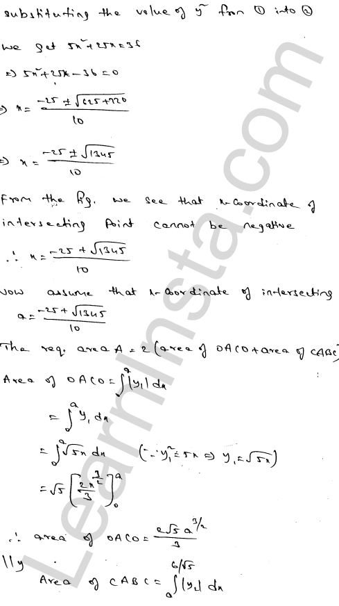 Solution of RD Sharma class 12 chapter 21 Areas of Bounded Regions Ex 21.3 25