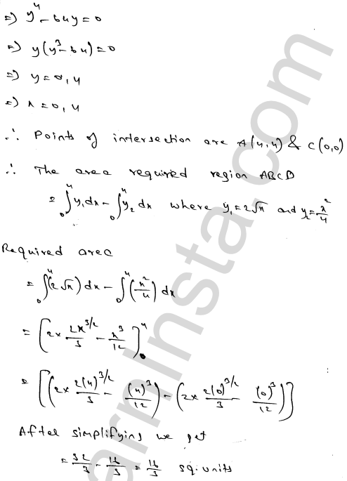Class 12 RD Sharma solutions chapter 21 Areas of Bounded Regions Ex 21.3 27