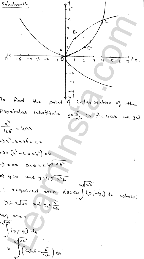 Class 12 RD Sharma solutions chapter 21 Areas of Bounded Regions Ex 21.3 28
