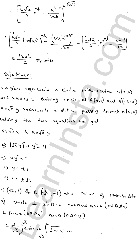 Class 12 RD Sharma solutions chapter 21 Areas of Bounded Regions Ex 21.3 29