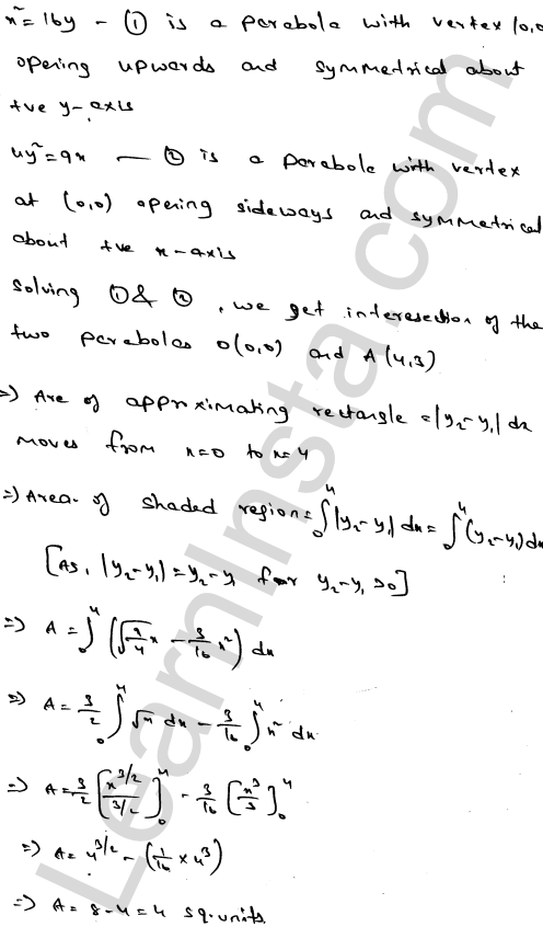 RD Sharma Class 12 Solutions Chapter 21 Areas of Bounded Regions Ex 21.3 3