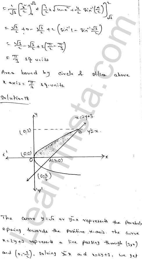 Class 12 RD Sharma solutions chapter 21 Areas of Bounded Regions Ex 21.3 30
