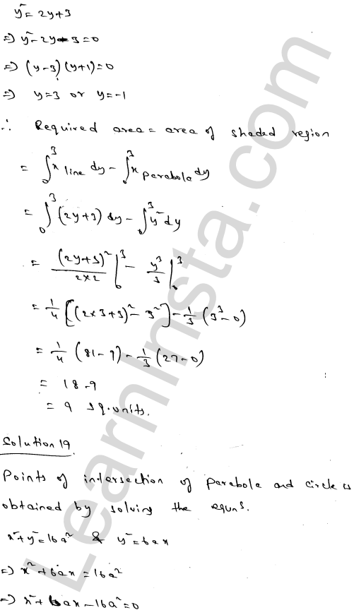 Class 12 RD Sharma maths solutions chapter 21 Areas of Bounded Regions Ex 21.3 31