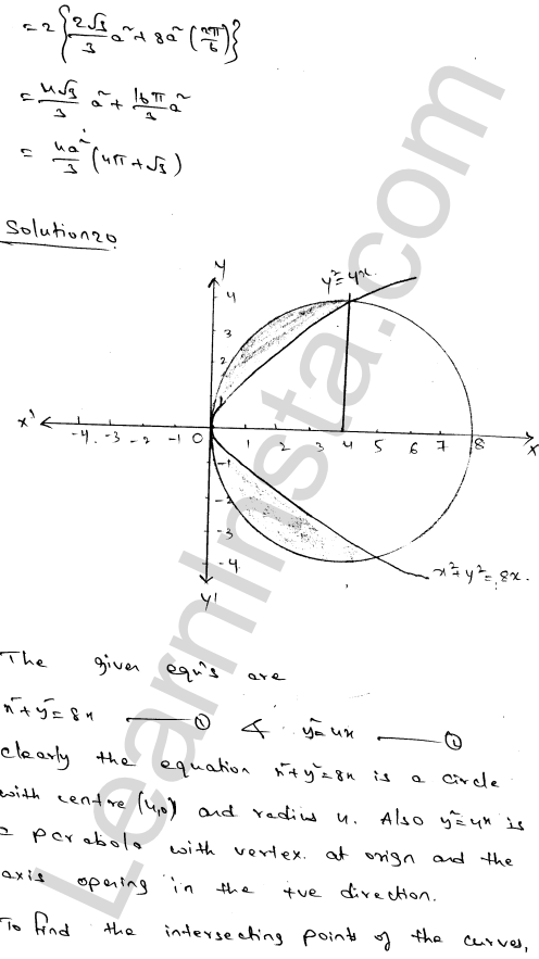 Class 12 RD Sharma maths solutions chapter 21 Areas of Bounded Regions Ex 21.3 33
