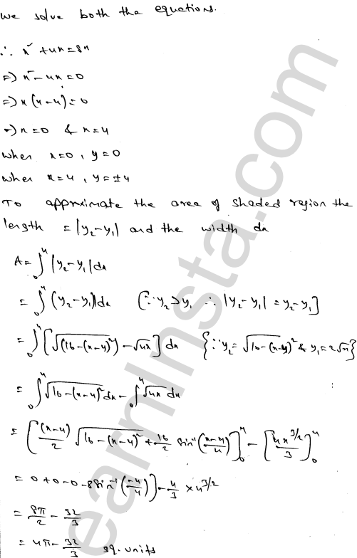 Class 12 RD Sharma maths solutions chapter 21 Areas of Bounded Regions Ex 21.3 34