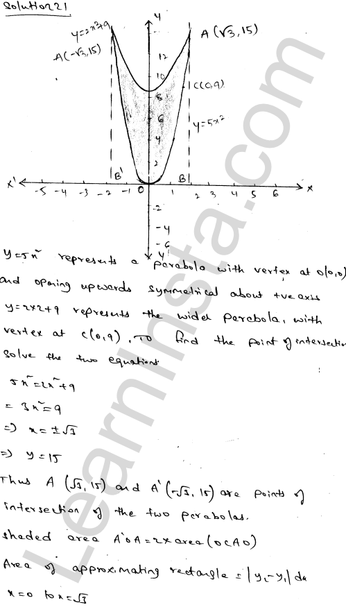 Class 12 RD Sharma maths solutions chapter 21 Areas of Bounded Regions Ex 21.3 35