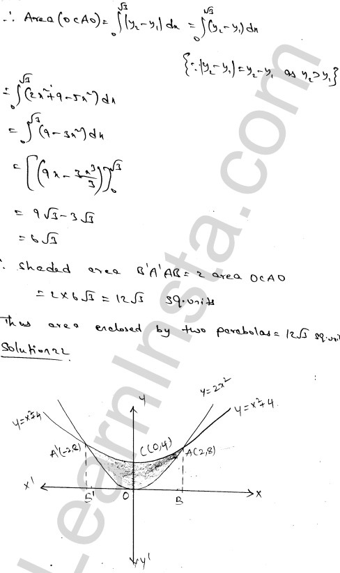 RD Sharma Class 12 Solutions Chapter 21 Areas of Bounded Regions Ex 21.3 36