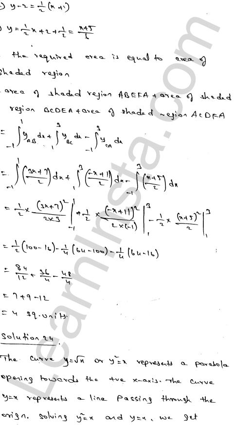 RD Sharma Class 12 Solutions Chapter 21 Areas of Bounded Regions Ex 21.3 40