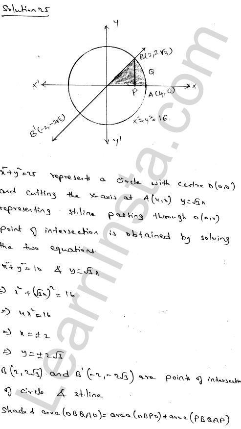 RD Sharma Class 12 Solutions Areas of Bounded Regions Chapter 21 Ex 21.3 42
