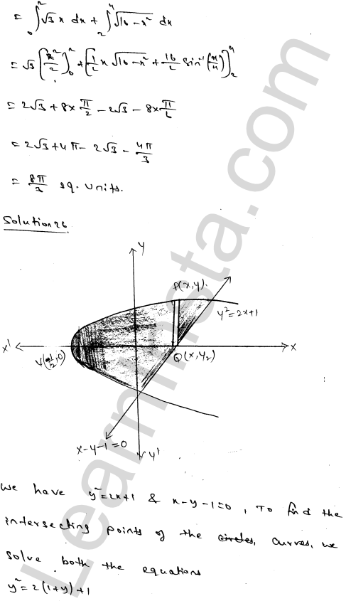RD Sharma Class 12 Solutions Areas of Bounded Regions Chapter 21 Ex 21.3 43