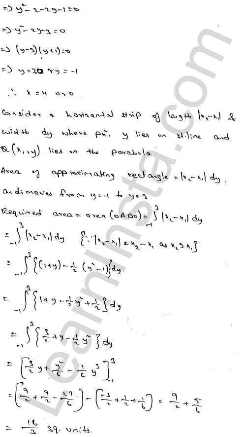 RD Sharma Class 12 Solutions Areas of Bounded Regions Chapter 21 Ex 21.3 44
