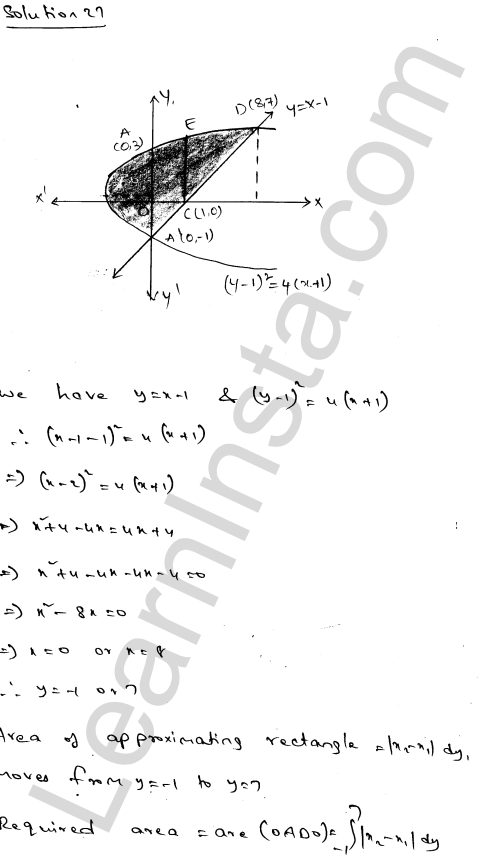 RD Sharma Class 12 Solutions Areas of Bounded Regions Chapter 21 Ex 21.3 45