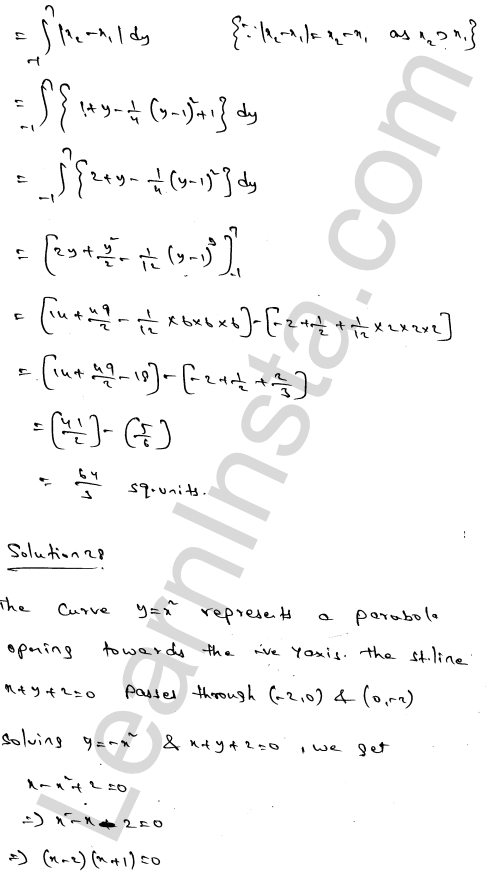 RD Sharma Solutions Class 12 Areas of Bounded Regions Chapter 21 Ex 21.3 46