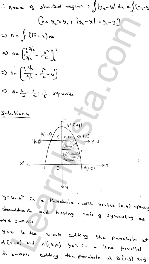 RD Sharma Class 12 Solutions Chapter 21 Areas of Bounded Regions Ex 21.3 5